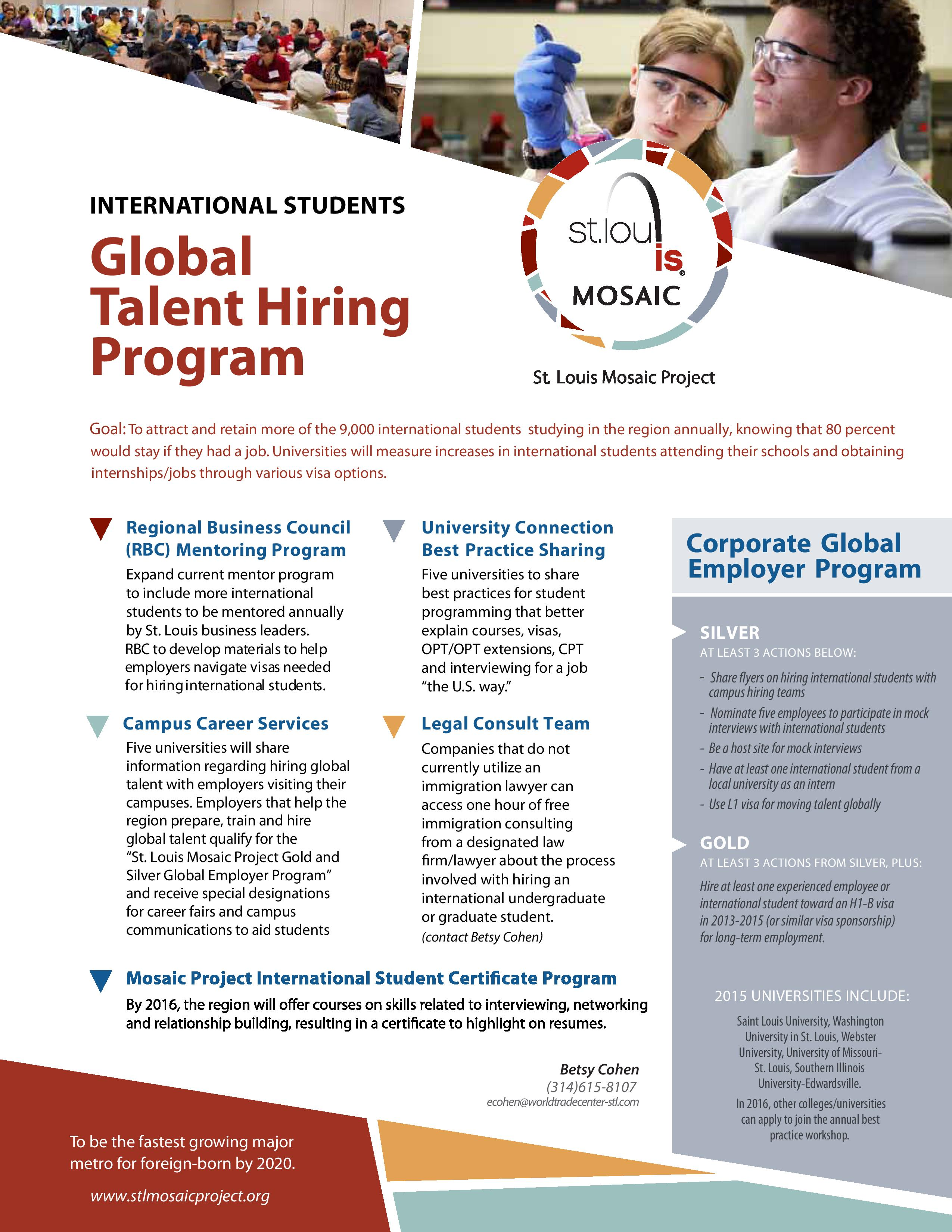 St Louis Mosaic Project International Student Hiring